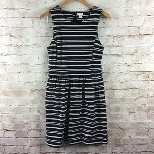 J. Crew Womens Black Cream Sleeveless Dress Small